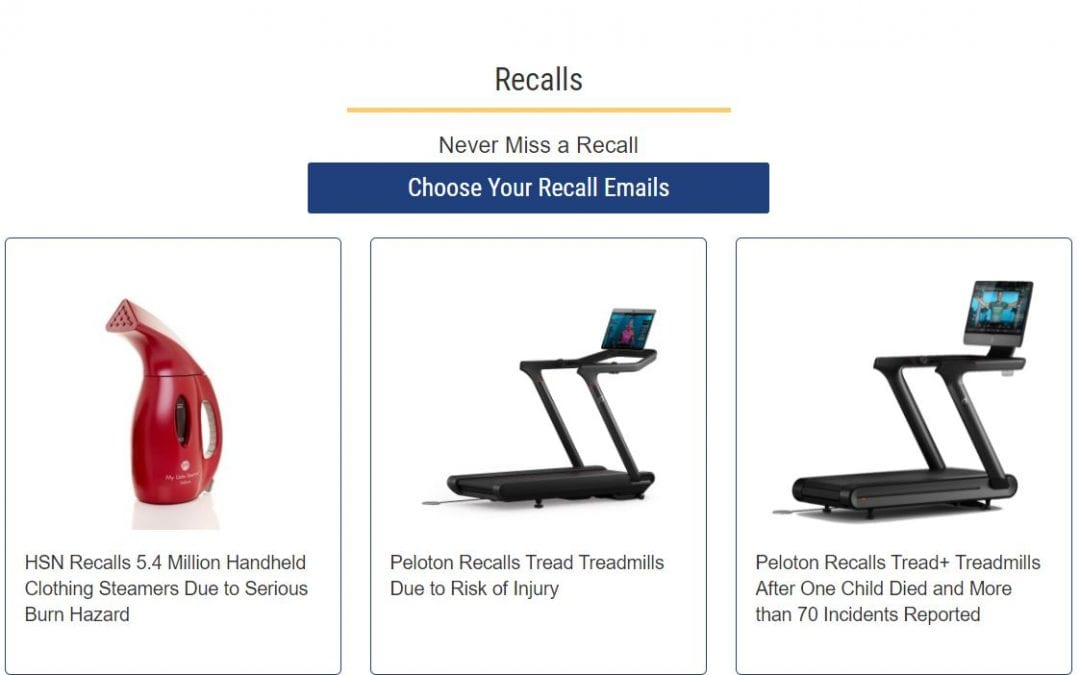 Appliance manufacturer recalls can be researched for free